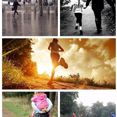 multiple images of being active