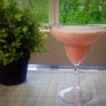 A front view of watermelon smoothie