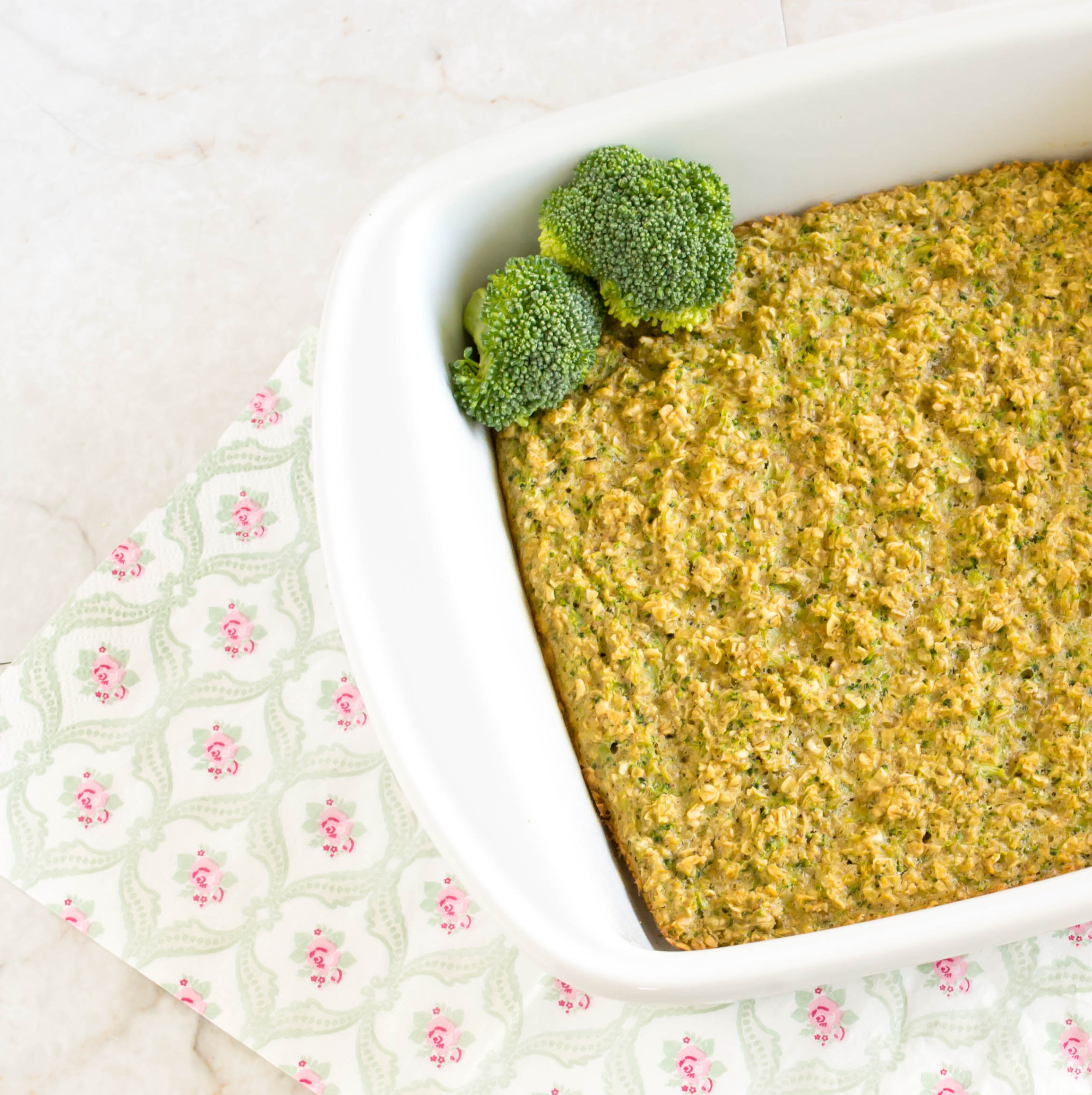 Broccoli Oatmeal Breakfast Casserole