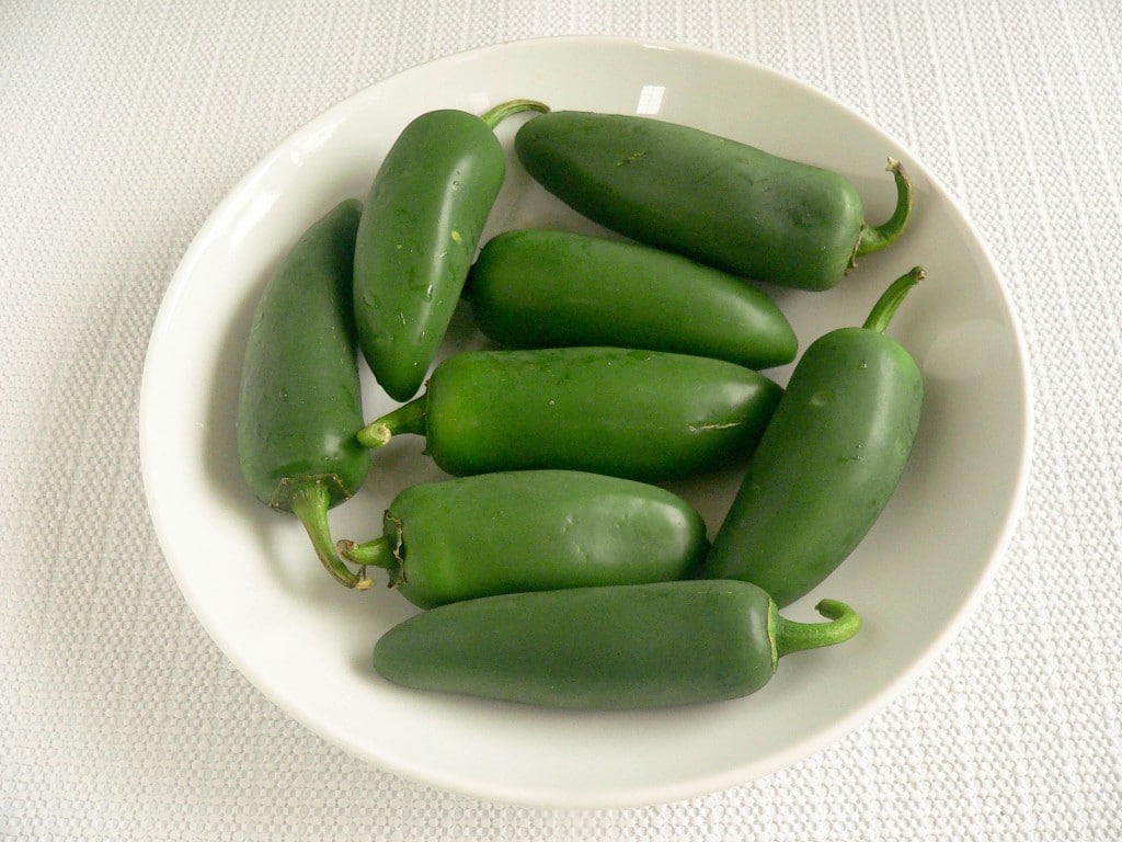 raw jalapeno peppers
