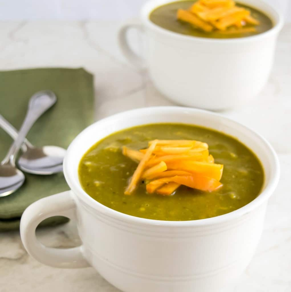 A close up view of the soup