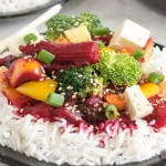 A front view of Iron Rich Beetroot Curry