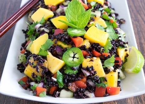 Black Rice Mango Salad