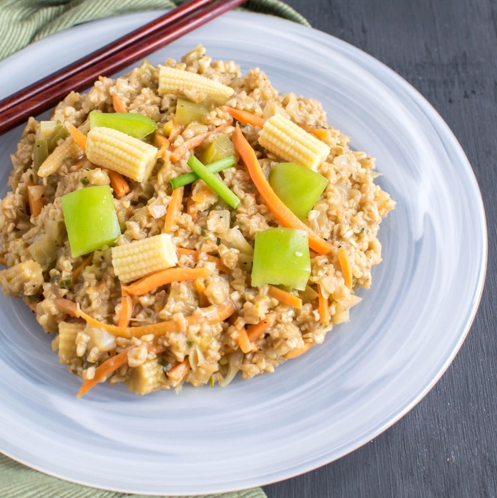 A close up view of Chinese Oatmeal