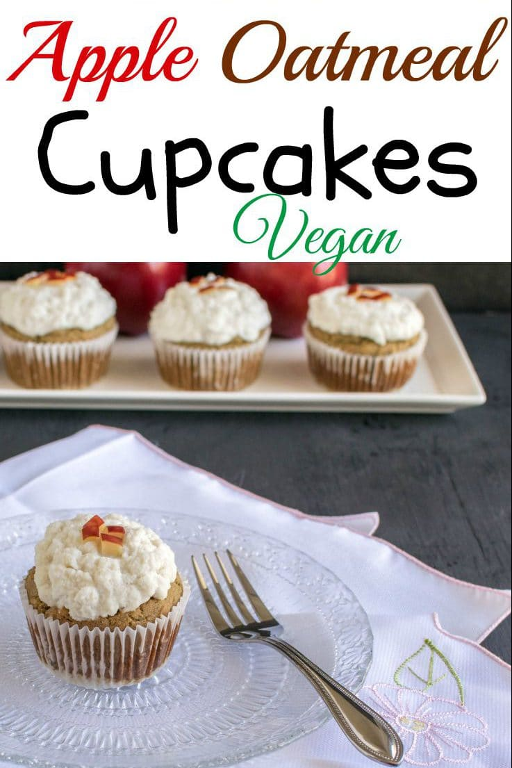 Apple Oatmeal Cupcakes with Vegan Vanilla Frosting | easy and nutritious dessert - Happy Baking | kiipfit.com