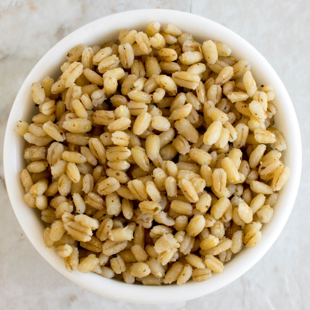 cooked barley in cajun spice