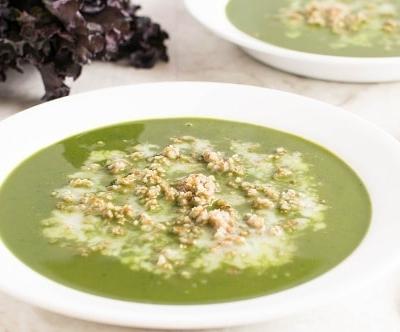 A front view of Kale Bulgur Soup