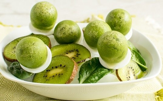 Spinach Kiwi Popsicles