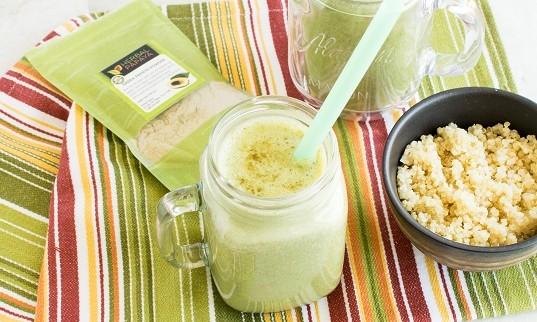 Green Papaya Powder Spinach Quinoa Smoothie