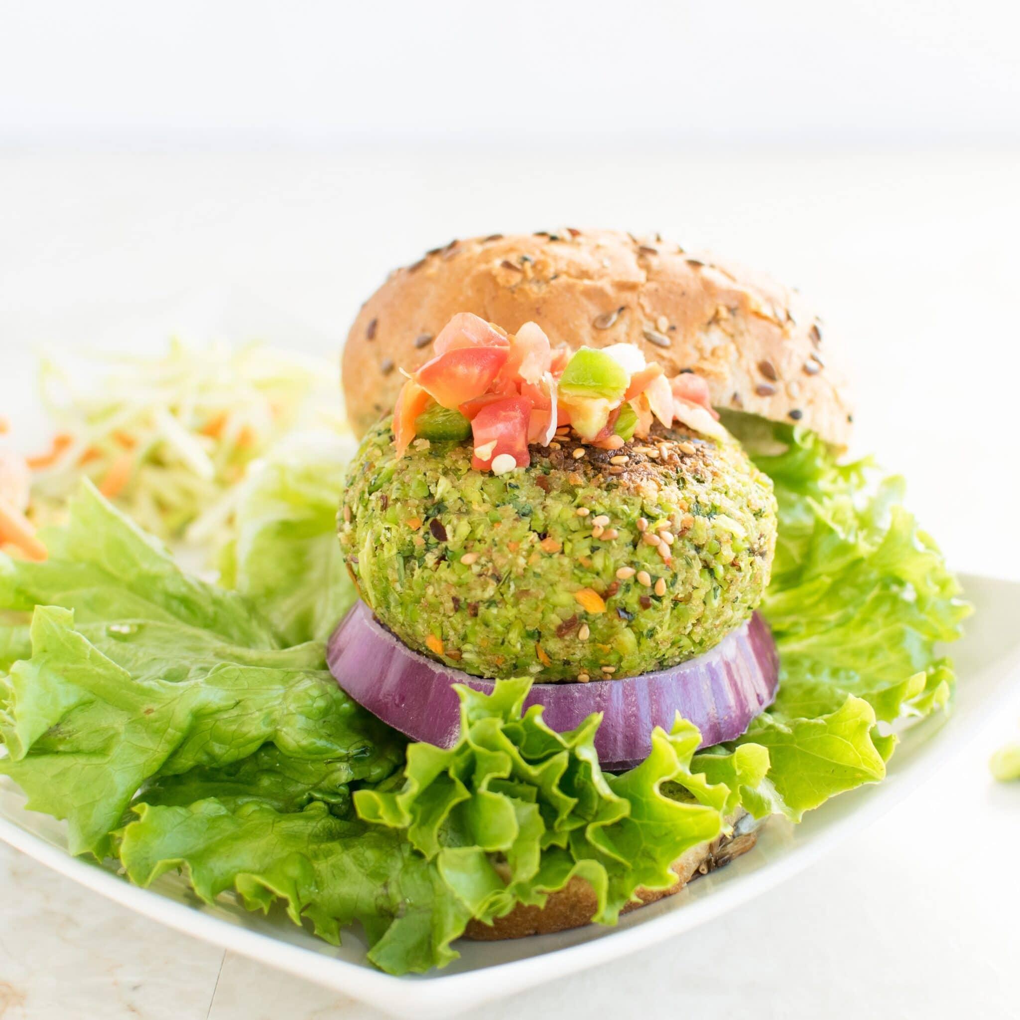 Cilantro Edamame Burger | Protein rich vegan burger to celebarte ...
