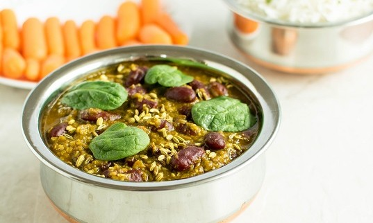 Kidney Beans Spinach Masala