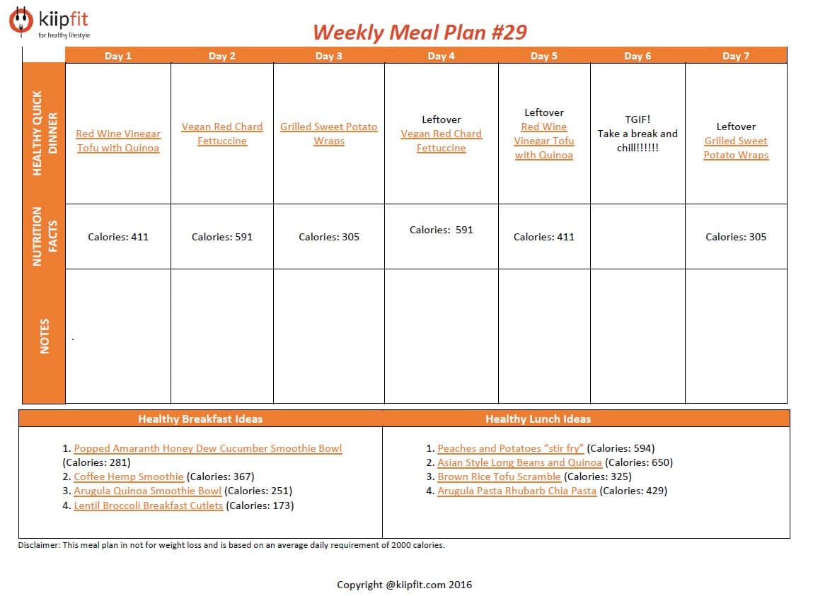 Weekly Meal Plan #29 | kiipfit.com