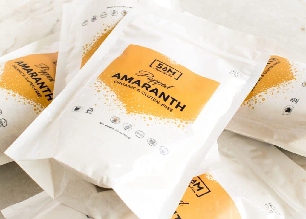 Popped Amaranth packs