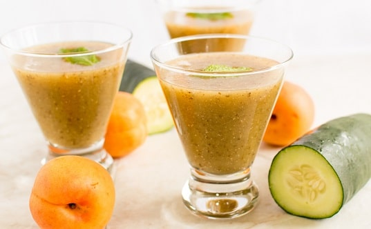 Apricot Cucumber Chia Smoothie