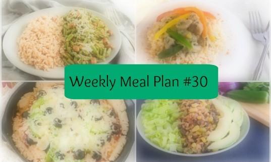 Weekly Meal Plan #30