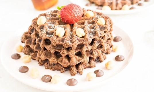 Chocolate Hummus Waffles