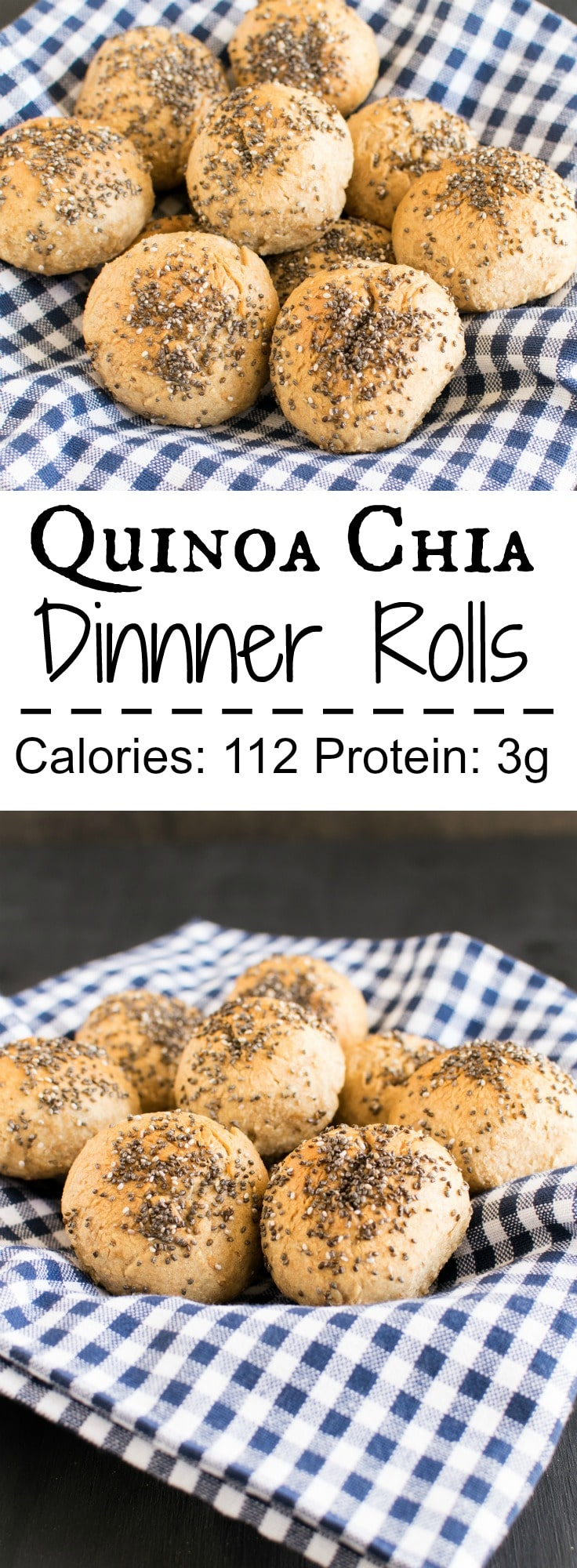 Quinoa Chia Dinner Rolls | soft and fluffy vegan yeast rolls with complete combination of protein and fiber | kiipfit.com