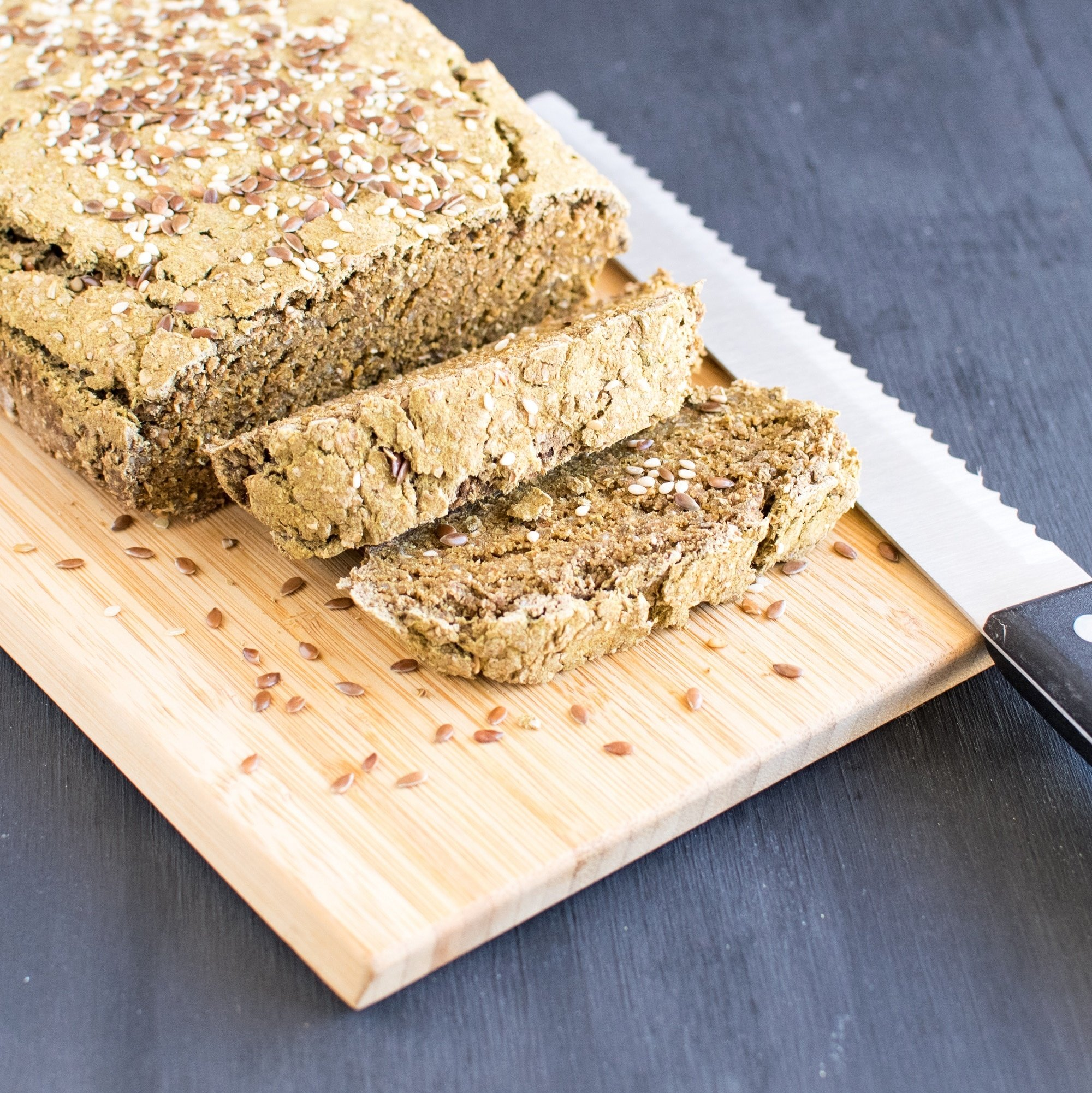 Teff Wheat Bran Chia Bread | vegan delicious sandwich bread that's easy to bake and ready in about 50 minutes only | kiipfit.com