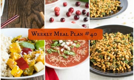 Weekly Meal Plan #40