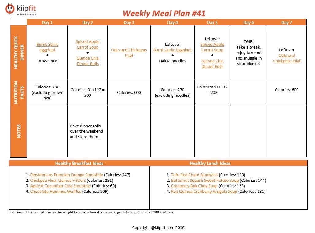 Weekly Meal Plan #41 | kiipfit.com