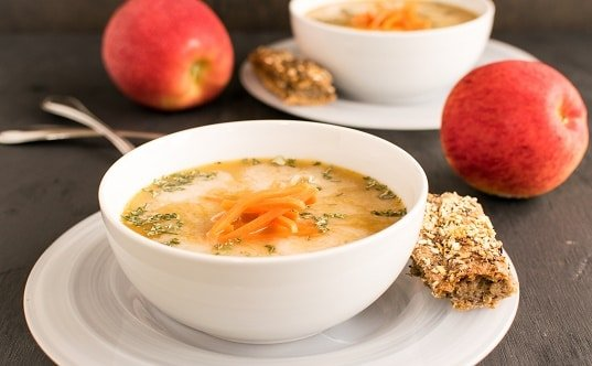Spiced Apple Carrot Soup