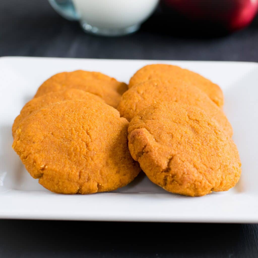 A close up view of Apple Sauce Pumpkin Cookies