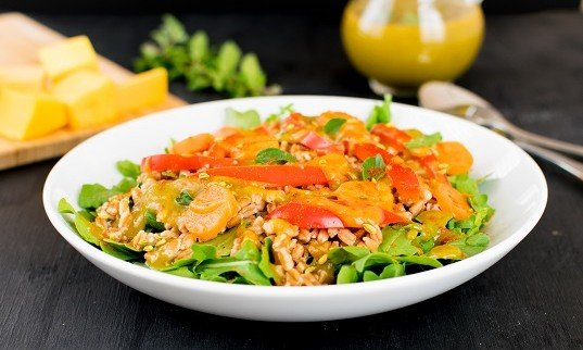 Farro Salad in Butternut Squash Dressing