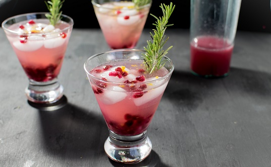 Sparkling Pomegranate Coconut Mocktail