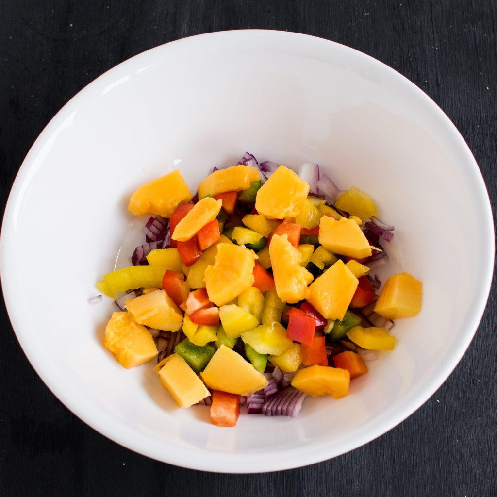 Step 2 ingredients in a bowl
