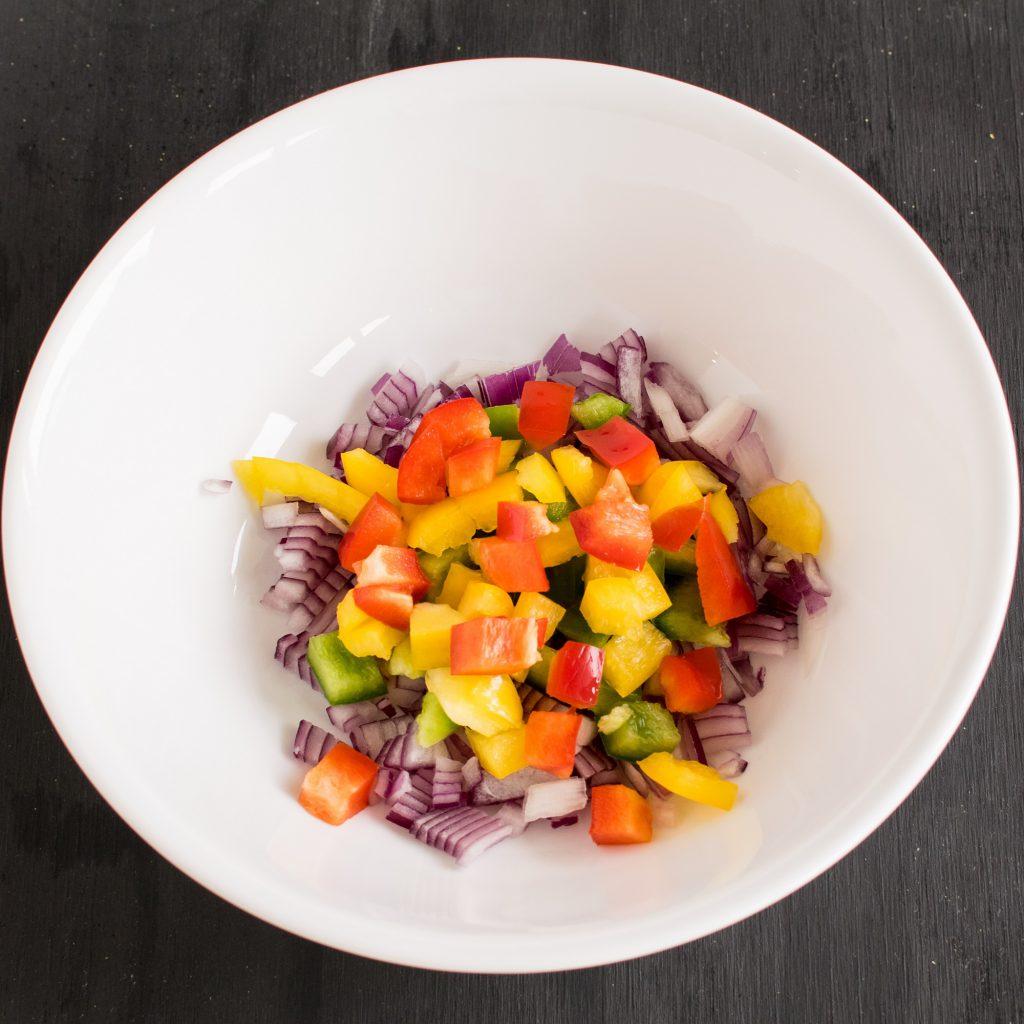 Step 1 ingredients in a bowl