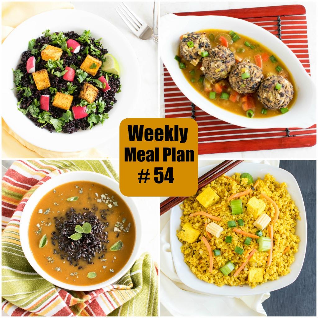 Weekly Meal Plan #54 | healthy vegan and vegetarian recipes | kiipfit.com