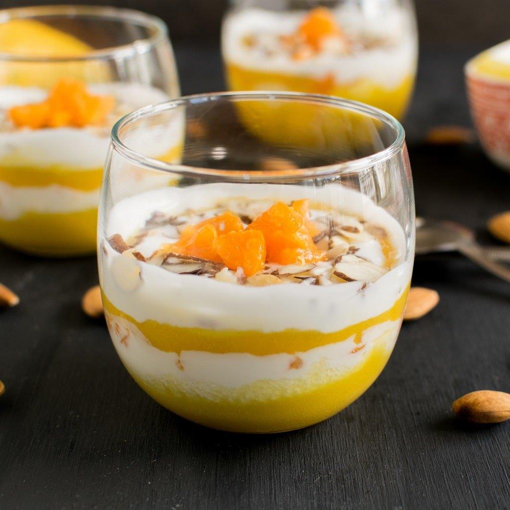 A front view of Tropical Yogurt Vegan Parfait