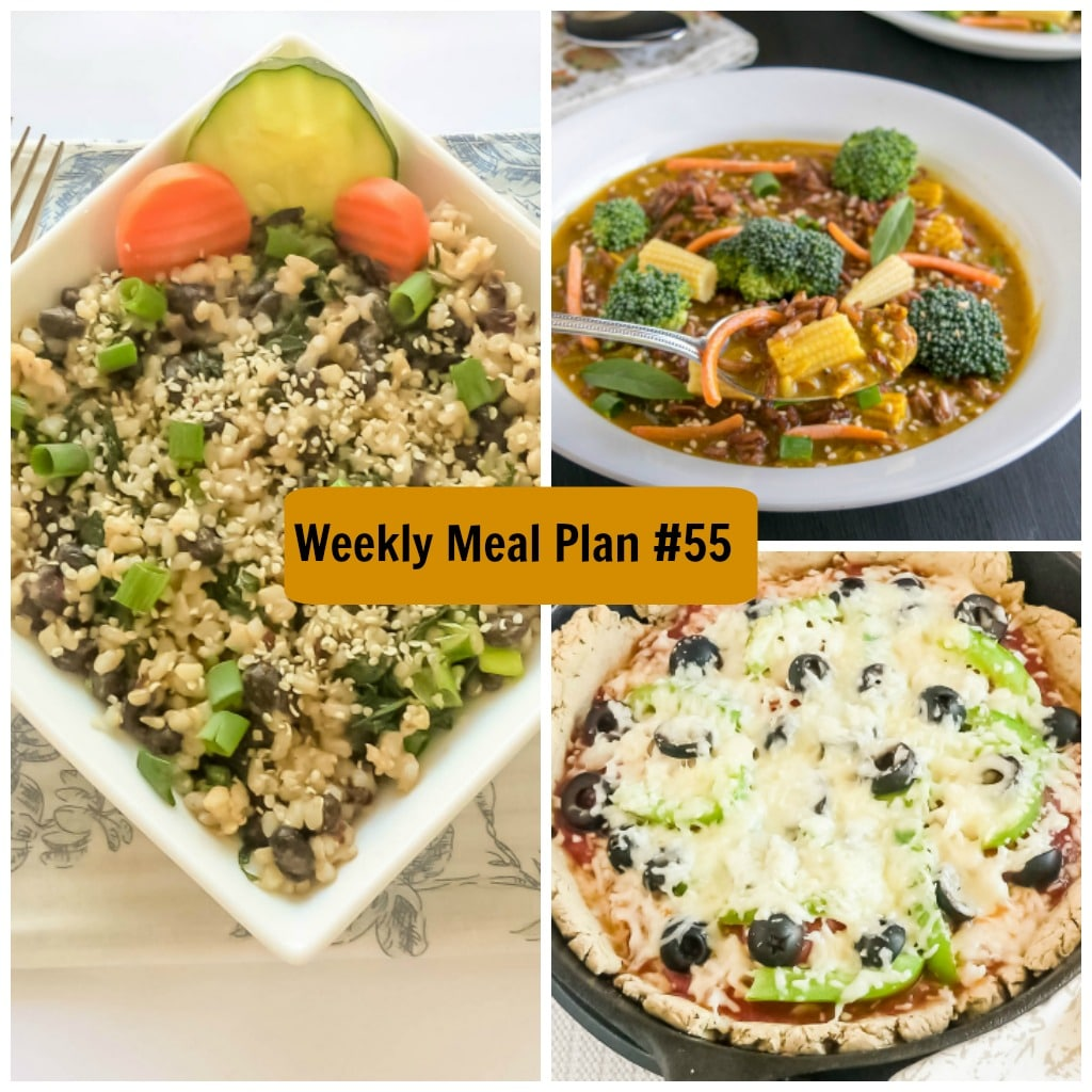 Weekly Meal Plan #55 | healthy vegetarian and vegan recipes | kiipfit.com