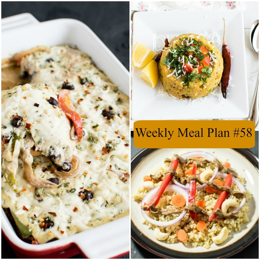 Weekly Meal Plan #58 | healthy vegan and vegetarian recipes | kiipfit.com