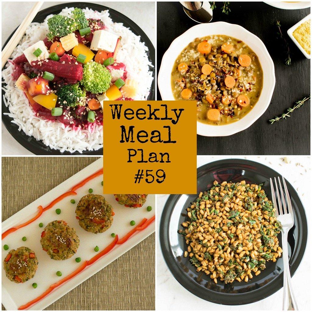 Weekly Meal Plan #59 | Healthy vegan and vegetarian recipes | kiipfit.com
