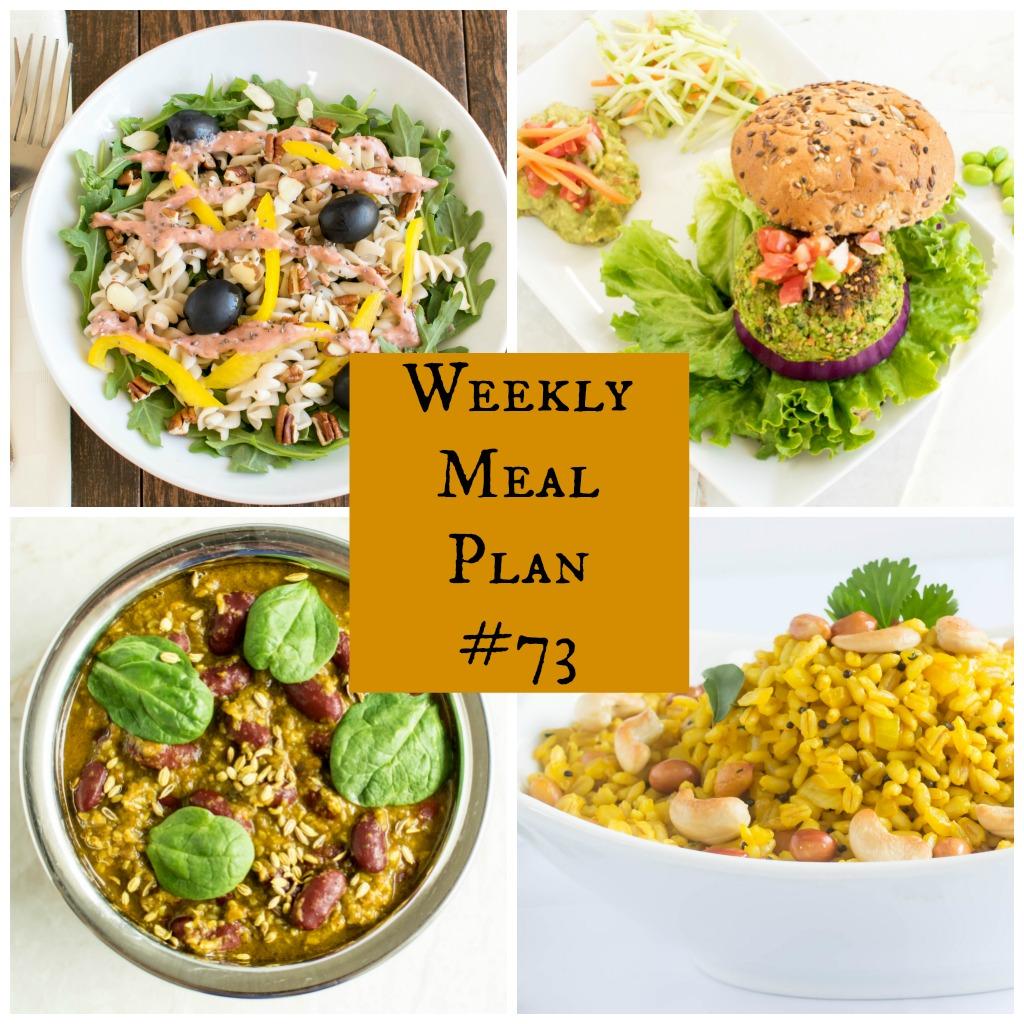 Weekly Meal Plan #73 | Healthy vegan and vegetarian recipes | kiipfit.com