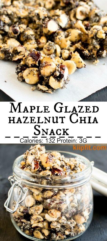 Multiple images of Maple Glazed Hazelnut Chia snack