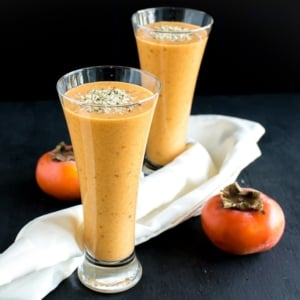 Persimmon Carrot Hemp Smoothie is a low calorie yet a satisfyingly hydrating beverage. It's a perfect energizing drink after workouts. It's also a refreshing evening drink or a nutritious breakfast. All in all it's a versatile beverage that's vegan and gluten free   kiipfit.com