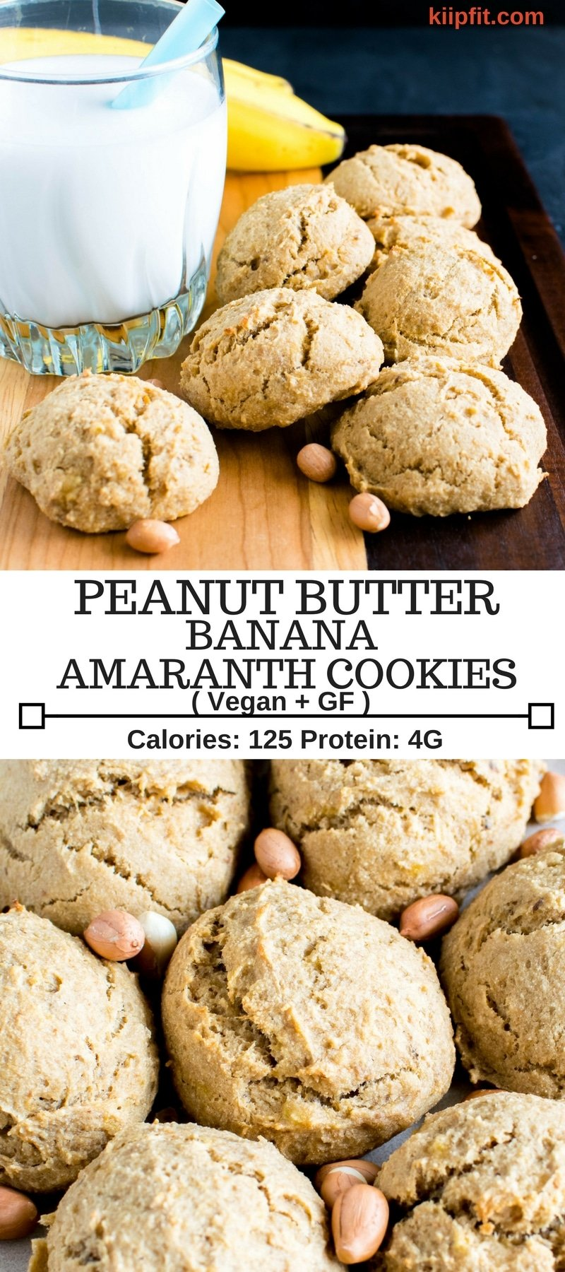 These vegan and gluten free Peanut Butter Banana Amaranth Cookies are a perfect choice to satisfy sweet tooth in a nutritious way. These cookies are high in fiber and protein along with delicious flavors.