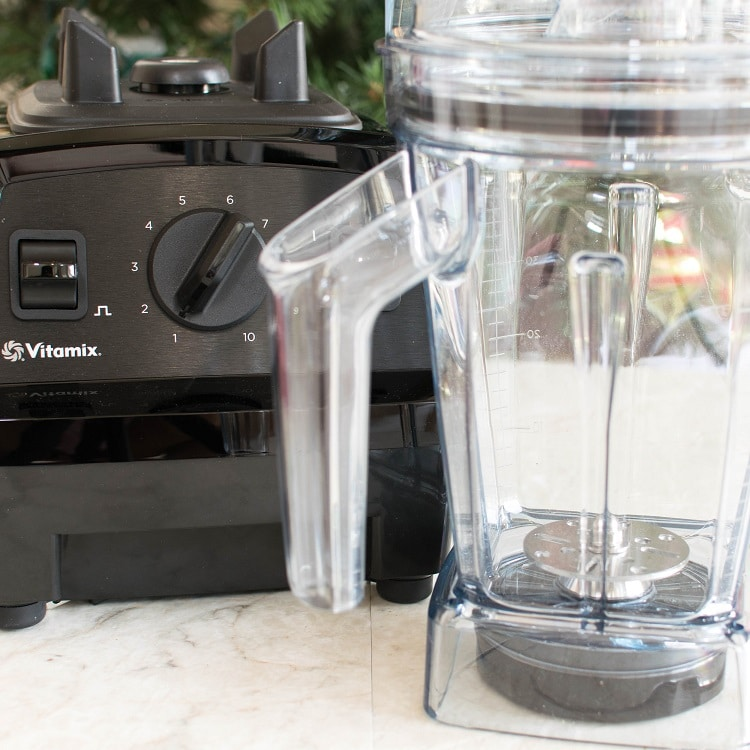 Featured Vitamix blender for salted caramel oatmeal smoothie