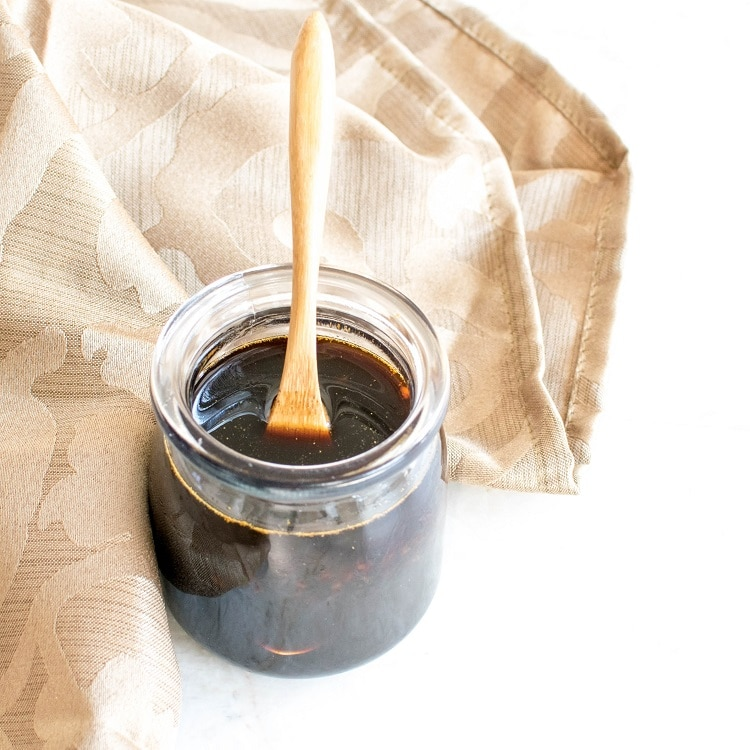 Teriyaki Sauce in a glass jar