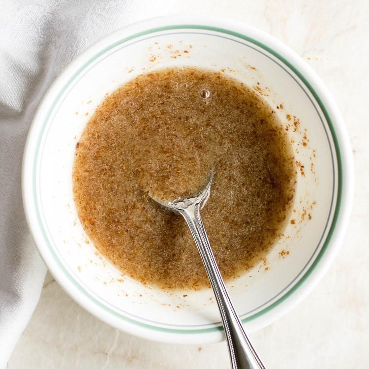 Flax egg mixture