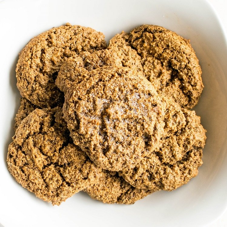 Top view of Easy Ginger Cookies in a bowl