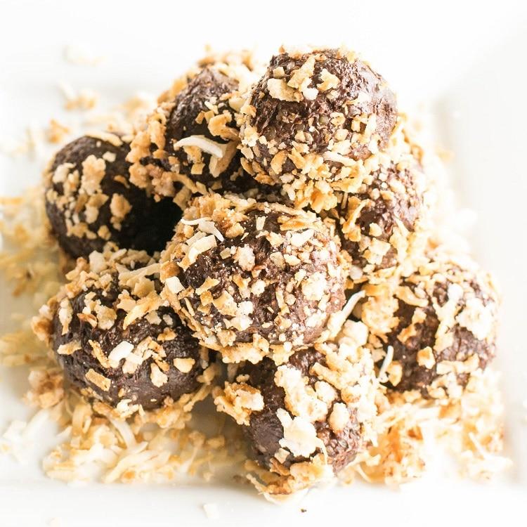 Stacked Chocolate Truffle Energy Bites