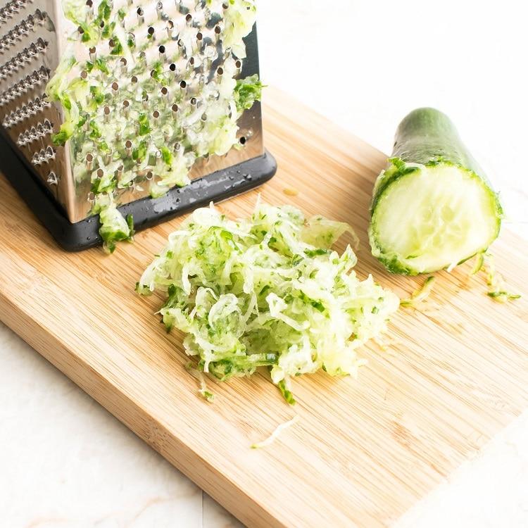 grated cucumber