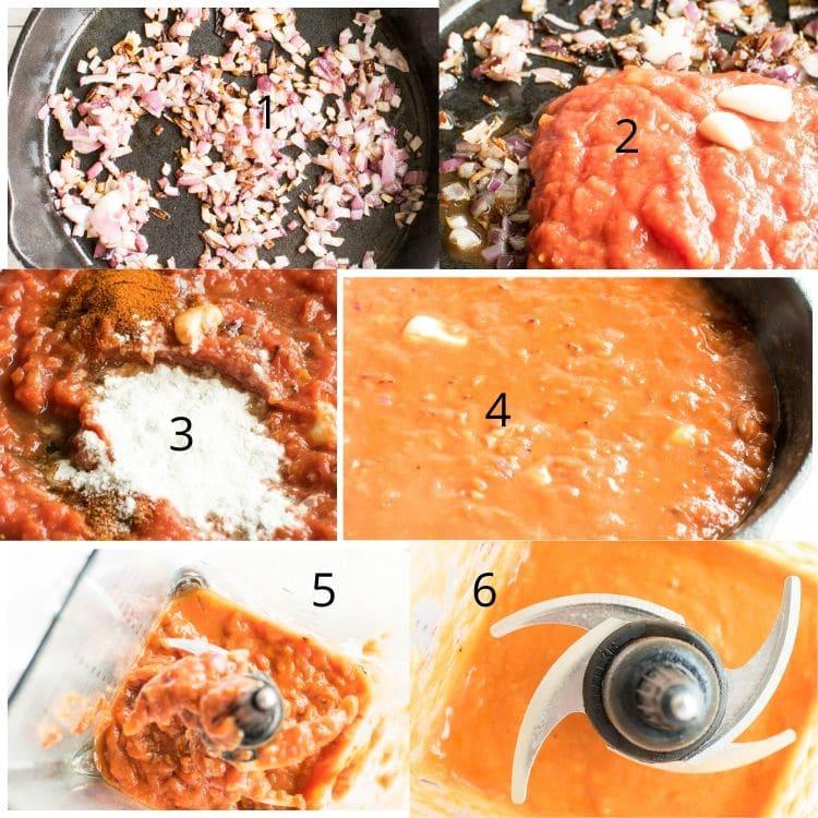 steps to make bravas sauce