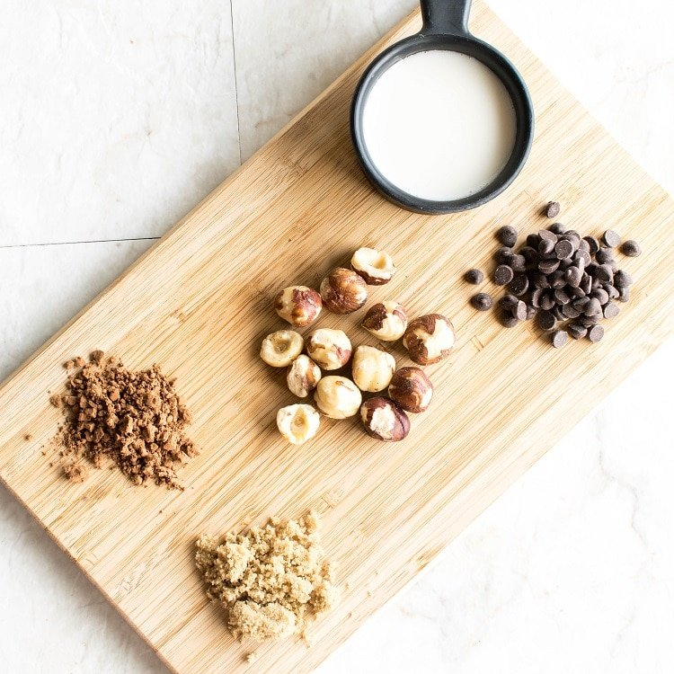 ingredients on a wooden board