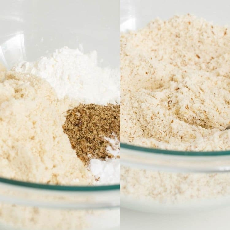 steps to combine dry ingredients
