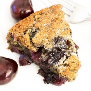 sliced oil free cherry cake recipe