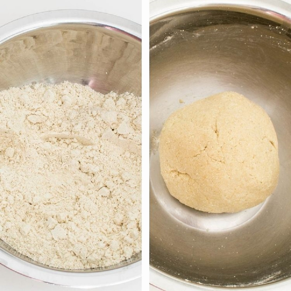 steps to form a dough.